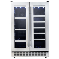 Silhouette Professional DBC047D3BSSP 4.7 Cu. Ft. Stainless French Door Beverage Center - DBC047D3BSSPR / DBC047D3BSSP - IN STOCK