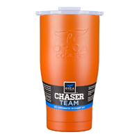 ORCA Coolers ORCA27BORWHT 27 fl. oz. Burnt Orange & White Team Chaser  - ORCCHA27BO-WH / ORCA27BORWHT - IN STOCK