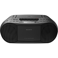 Sony Stereo CD/Cassette Boombox Home Audio Radio - Black - CFD-S70BLK / CFDS70 - IN STOCK