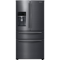 Samsung RF25HMEDBSG 25 Cu. Ft. Black Stainless 4-Door French Door Refrigerator - RF25HMEDBSG - IN STOCK