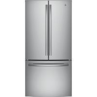 G.E. GNE25JSKSS 25 Cu. Ft. Stainless French Door Refrigerator - GNE25JSKSS - IN STOCK
