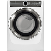 Electrolux EFME517SIW Electric 8 Cu. Ft. White Perfect Steam Dryer - EFME517SIW - IN STOCK
