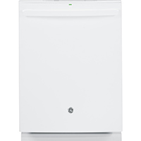 G.E. GDT655SGJWW 16 Place Setting White Hidden Control Dishwasher - GDT655SGJWW - IN STOCK
