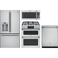 G.E. Café 4 Pc. Stainless French Door Kitchen Package - GECAFEFDKIT - IN STOCK