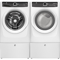 Electrolux White Front Load Washer/Dryer Pair w/ Pedestals - EFLW417PEDPR - IN STOCK