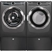 Electrolux Titanium Front Load Washer/Dryer Pair w/ Pedestals - EFLS6175PDPR - IN STOCK
