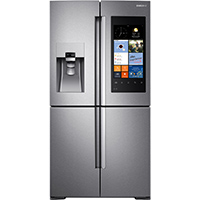 Samsung RF28K9580SR 28 Cu. Ft. Stainless Flex Door Family Hub Refrigerator - RF28K9580SR - IN STOCK