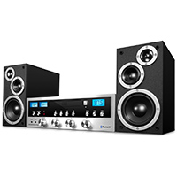 Innovative Technology Classic Retro Black and Silver Bluetooth Stereo System - ITCDS-5000 B / ITCDS5000B - IN STOCK