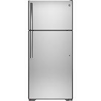 G.E. GTS16GSHSS 15.5 Cu. Stainless Top Freezer Refrigerator - GTS16GSHSS - IN STOCK