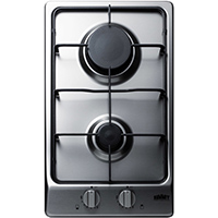 Summit GC22SS 12 in. 2 Burner Stainless Gas Cooktop - GC22SS - IN STOCK