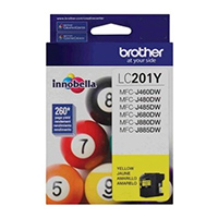 Brother Innobella� Standard Yield Yellow Ink Cartridge - LC201Y - IN STOCK