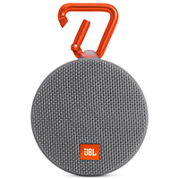 JBL Clip 2 Waterproof Bluetooth Speaker - Gray - CLIP2GRY - IN STOCK