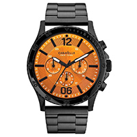 Caravelle New York Mens Black Finish Chronograph Watch - 45A108 - IN STOCK