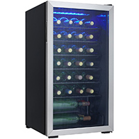 Danby DWC93BLSDB 36 Bottle Stainless Wine Cooler - DWC93BLSDB - IN STOCK