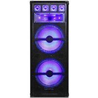 Technical Pro Dual 15 in. 1800 Watt Passive Carpeted LED Cabinet Speaker - VRTX215LED - IN STOCK