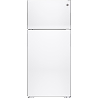 G.E. GPE16DTHWW 15.5 Cu. Ft. Top Freezer White Refrigerator - GPE16DTHWW - IN STOCK