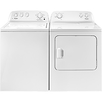 Whirlpool White Top Load Washer/Dryer Pair - WTW4616PR - IN STOCK