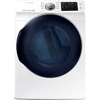 Samsung DV45K6200EW 7.5 Cu. Ft. Electric White Front Load Steam Dryer - DV45K6200EW - IN STOCK