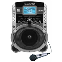 Karaoke USA 5w Portable Karaoke MP3+G Player with Video Output - SD519 - IN STOCK