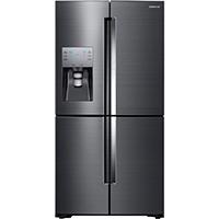 Samsung RF22K9381SG 22 Cu. Ft. Black Stainless 4-Door French Door Counter Depth Refrigerator - RF22K9381SG - IN STOCK