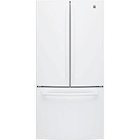 G.E. GNE25JGKWW 25 Cu. Ft. White French Door Refrigerator - GNE25JGKWW - IN STOCK