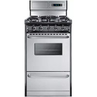 Summit TTM13027BKSW 2.4 Cu. Ft. 4 Burner Stainless Gas Range  - TTM13027BKSW / TTM13027BKSW - IN STOCK