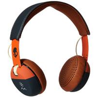 Skull Candy S5GRHT467 Grind Wired On-Ear Headphones, Orange/Navy - S5GRHT467 - IN STOCK