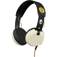 Skull Candy S5GRHT471 Grind Wired On-Ear Headphones, Black/White - S5GRHT471 - IN STOCK