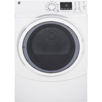 G.E. GFD45GSSKWW 7.5 cu.ft White Front Load Steam Gas Dryer - GFD45GSSKWW - IN STOCK