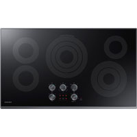 Samsung NZ36K6430RG 36 in. Black Stainless 5 Burner Electric Cooktop - NZ36K6430RG - IN STOCK
