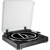 Audio Technica ATLP60BKBT Fully Automatic Wireless Belt-Drive Stereo Turntable - ATLP60BKBT - IN STOCK