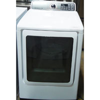 Samsung Electric 7.4 Cu. Ft. White High Efficiency Top Load Steam Dryer - Open Box - DV48H7400EW-OBX1072 - IN STOCK