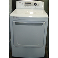 LG Electric 7.3 Cu. Ft. White High Efficiency Top Load Dryer - Open Box - DLE4970W-OBX1078 - IN STOCK