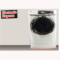 G.E. Electric 8.3 Cu. Ft. White Front Load Steam Dryer - Open Box - GFDR480EFWW-OBX1094 - IN STOCK