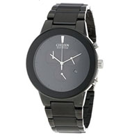 CITIZEN AT224557E Mens Axiom Eco-Drive Black Stainless Steel Watch - AT2245-57E / AT224557E - IN STOCK