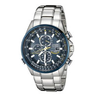 CITIZEN AT802054L Mens Blue Angel Stainless Steel Eco-Drive Watch - AT8020-54L / AT802054L - IN STOCK