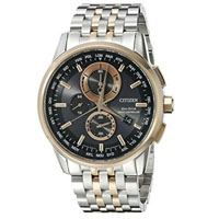 CITIZEN AT811657E Mens Eco-Drive Stainless Steel Two-Tone Chronograph Watch  - AT8116-57E / AT811657E - IN STOCK