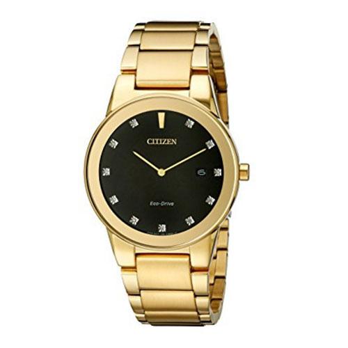 CITIZEN AU106256G Axiom Mens Gold-Tone Eco-Drive Watch - AU1062-56G / AU106256G - IN STOCK