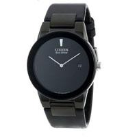 CITIZEN AU106507E Axiom Mens Eco-Drive Watch w/ Leather Band - AU1065-07E / AU106507E - IN STOCK
