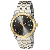 CITIZEN BM734454E Mens Eco-Drive Two-Tone Stainless Steel Casual Watch - BM7344-54E / BM734454E - IN STOCK