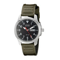 CITIZEN BM818003E Mens Eco-Drive Stainless Steel and Canvas Watch - BM8180-03E / BM818003E - IN STOCK