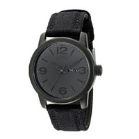 CITIZEN BM847500F Mens Eco-Drive Black Stainless and Canvas Watch - BM8475-00F / BM847500F - IN STOCK