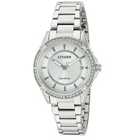 CITIZEN FE606051A Womens Eco-Drive Stainless Steel Watch - FE6060-51A / FE606051A - IN STOCK