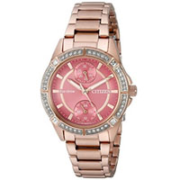 CITIZEN FD300358X Womens Eco-Drive Gold-Tone Stainless Steel Watch - FD3003-58X / FD300358X - IN STOCK