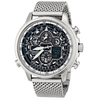 CITIZEN JY803083E Navihawk Mens Eco-Drive Stainless Steel Watch - JY8030-83E / JY803083E - IN STOCK