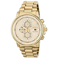 CITIZEN FB300253P Nighthawk Unisex Eco-Drive Gold-Tone Stainless Steel Watch - FB3002-53P / FB300253P - IN STOCK