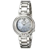 CITIZEN EM032059D Sunrise Womens Eco-Drive Stainless Steel Diamond Watch - EM0320-59D / EM032059D - IN STOCK