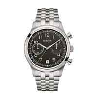 Bulova 96B234 Mens Stainless Steel Chronograph Watch - 96B234 - IN STOCK