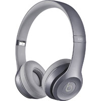 Beats By Dr. Dre MHNW2AM Solo2 Wired On-Ear Headphones - Gray - Recertified - MHNW2AM - IN STOCK