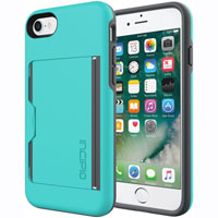 Incipio IPH1477TQC Stowaway Case for iPhone 7 - Turquoise/Charcoal - IPH1477TQC - IN STOCK